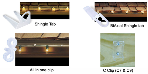 Christmas Light Mounting Clips - Lighting Hardware, Accessories & Parts - Northern Lights Display