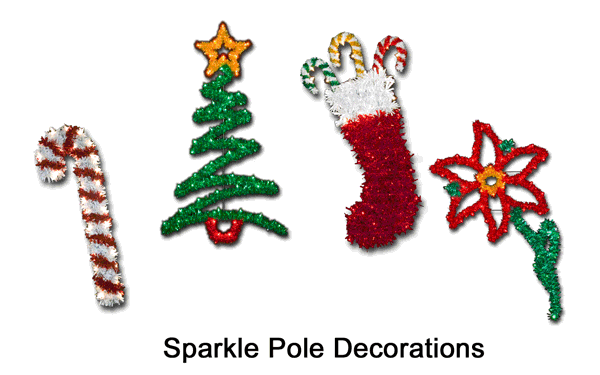 pole decor - Christmas Pole Decorations